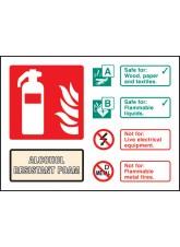 Alcohol Resistant Foam Extinguisher Identification