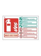 Multi-Use Foam Extinguisher Identification