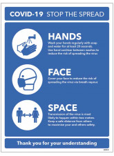 Stop the Spread - Hands - Face - Space