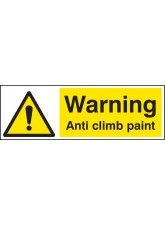 Warning Anti Climb Paint