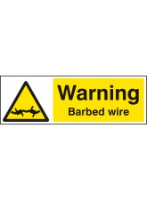 Warning Barbed Wire