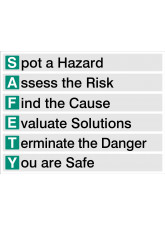 S.A.F.E.T.Y - Spot - Assess - Find - Evaluate - Terminate - You Are Safe