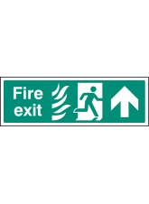 HTM Fire Exit - Arrow Up / Straight On