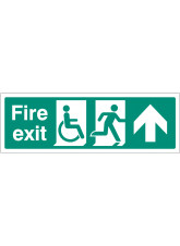 Disabled Fire Exit - Arrow Up / Straight On