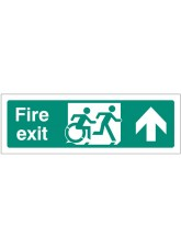 Inclusive Disabled Fire Exit Design - Arrow Up