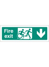 Inclusive Disabled Fire Exit Design - Arrow Down