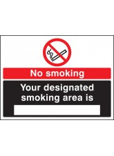 No Smoking Designated Smoking Area Is (White / Black)