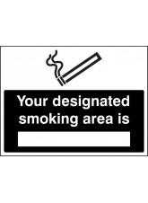Your Designated Smoking Area Is (White / Black)