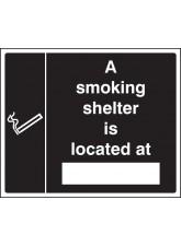 Smoking Shelter Located At (White / Black)