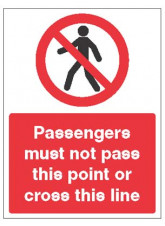 Railway Prohibition - Passengers must Not Pass this Point