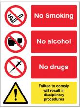 No Smoking - Alcohol - Drugs