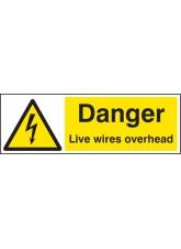 Danger Live Wires Overhead