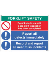 Forklift Safety Report Defects and near Misses