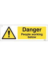 Danger People Working Below