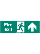 Double Sided Large Fire Exit - Up / Straight On