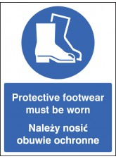 Protective Footwear Must be Worn (English / Polish)