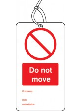 10 x Do Not Move - Double Sided Tags