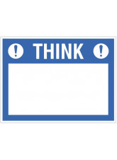 """Large Wipe Clean Board """"Think (Write your Message)"""""""