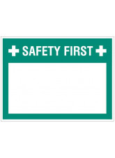 """Large Wipe Clean Board """"Safety First (Write your Message)"""""""