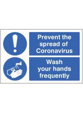 Coronavirus Floor Graphic - Prevent the Spread - Wash your Hands