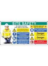 Site Safety - Banner with Eyelets (as 58038)