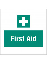 First Aid - Site Saver Sign - 400 x 400mm
