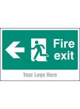 Fire Exit - Arrow Left - Site Saver