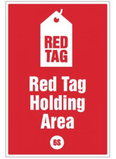 Red tag Holding Area - 6S Poster
