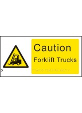 Braille - Caution Forklift Trucks