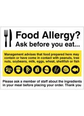 Food Allergy Notice