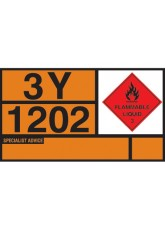 Hazchem Placard - Diesel / Gas Oil Self Adhesive Vinyl