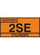 2SE Cylinder Storage Placard - Self Adhesive Vinyl