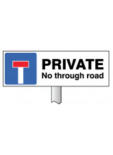 Verge Sign - Private No Through Road