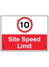 Re-Flex Sign - 10mph Site Speed Limit