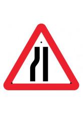 Re-Flex Sign - Road narrowing Left