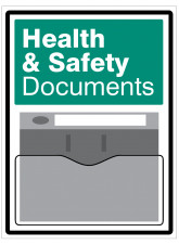 Health and Safety Document Holder Sign