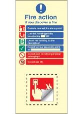 Call Point Fire Action Set - Photoluminescent Rigid PVC