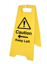 Caution Keep Left / Right (Free-Standing Floor Sign)