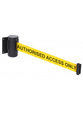 3 Metre Retractable Wall Mounted Barrier - Wording Options