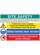 Site Safety - Construction Work in Progress
