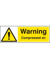 Warning Compressed Air