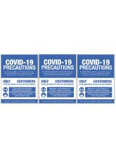 COVID 19 Precautions - 1m / 2m / Generic Distance Options - Blue