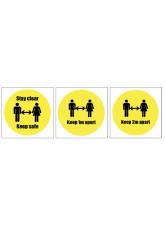 Keep Apart Sticker - 1m / 2m / Generic Distance Options