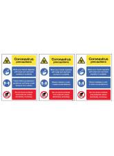 Coronavirus Precautions Multi-Message - 1m / 2m / Generic Distance Options