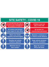 Coronavirus Site Safety Board with 10 Messages