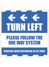 Turn Left - Arrow Left - Follow the One Way System