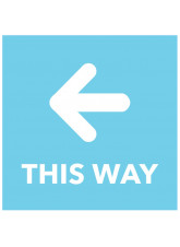 This Way - Arrow Left - Blue Floor Graphic