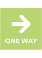 One Way - Arrow Right - Green Floor Graphic