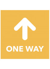 One Way - Arrow Up - Orange Floor Graphic