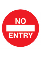 No Entry - Floor Graphic (Circle)